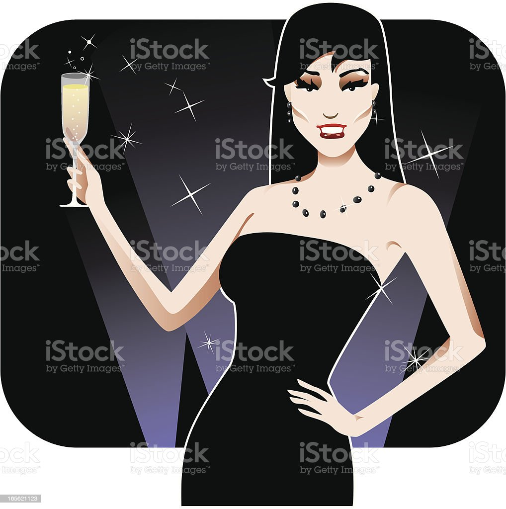 New Years Toast royalty-free stock vector art