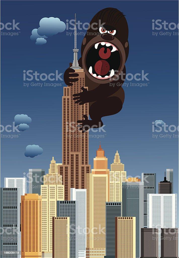 New York and gorilla royalty-free stock vector art