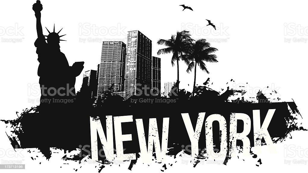 New York Banner vector art illustration