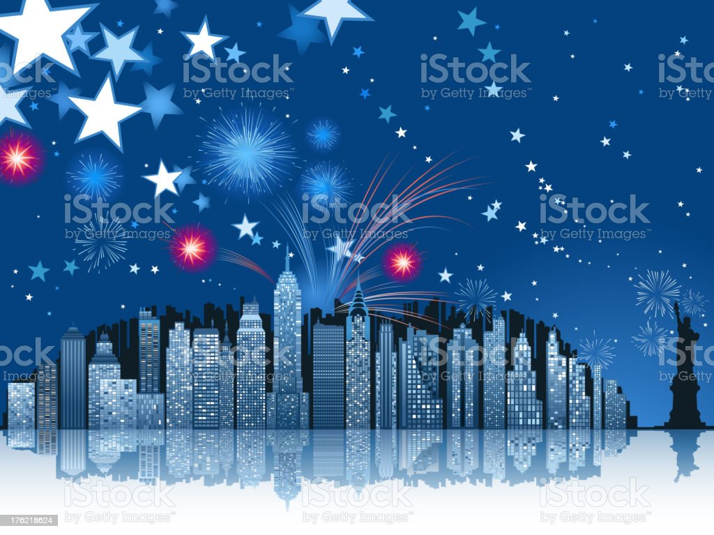 new york city celebration royalty-free stock vector art