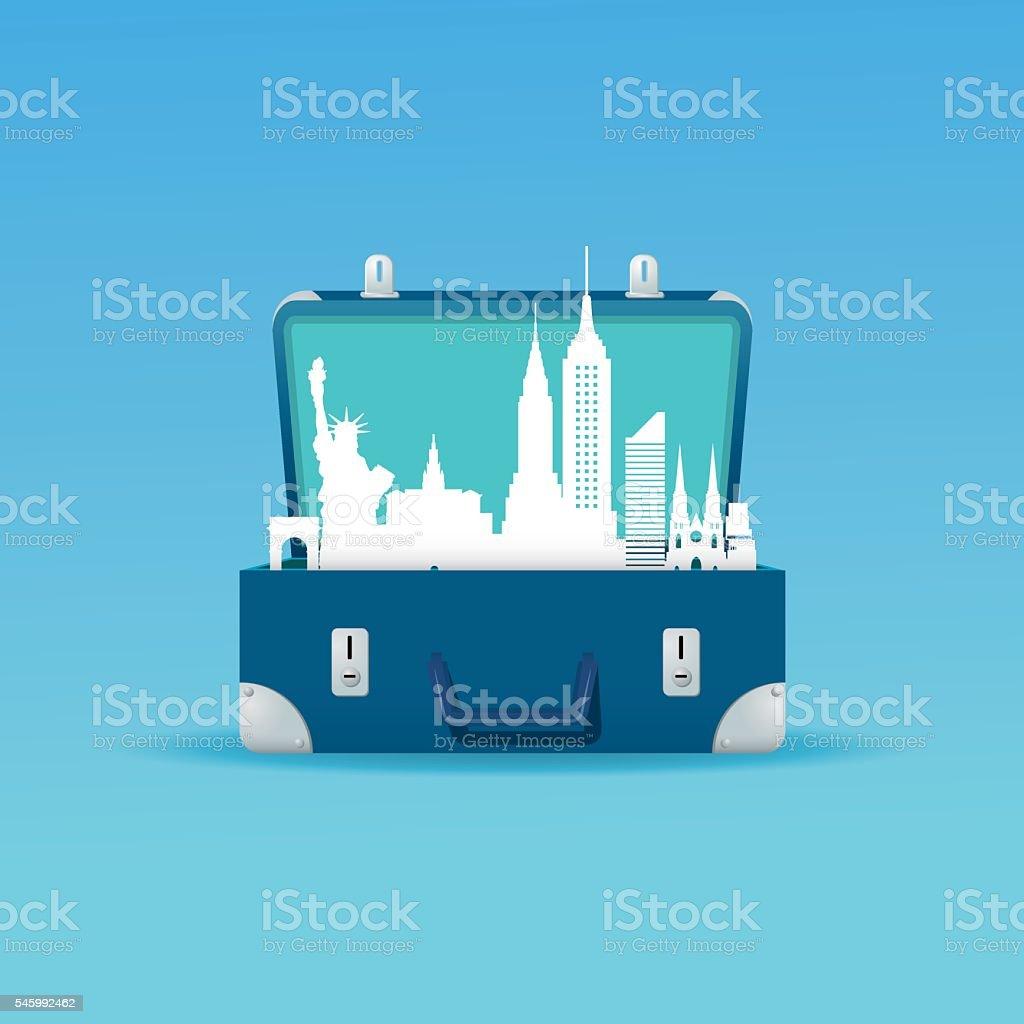 New York city destination vector art illustration