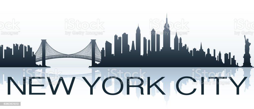 new york city greeting vector art illustration