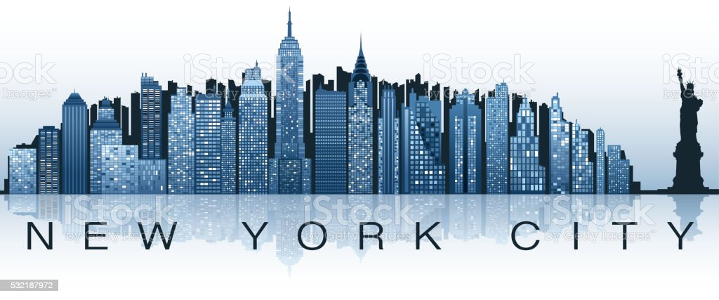 new york city label vector art illustration