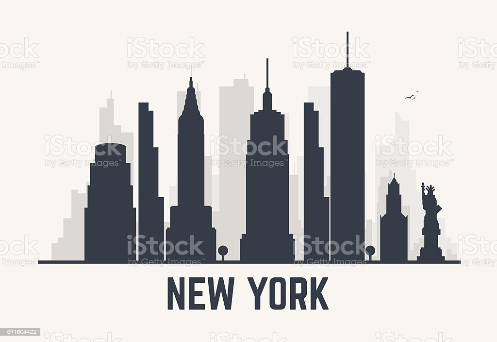 New York city lines vector art illustration