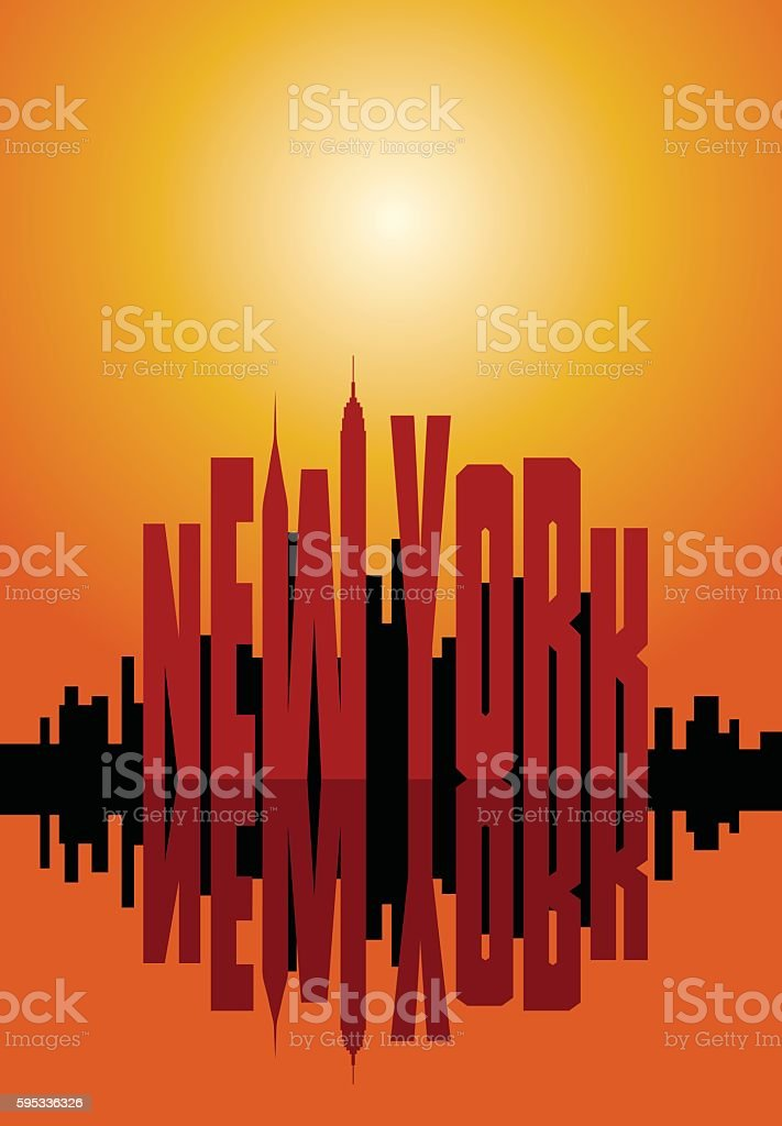 New York city poster. vector art illustration