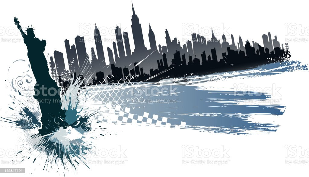 new york city silhouette vector art illustration