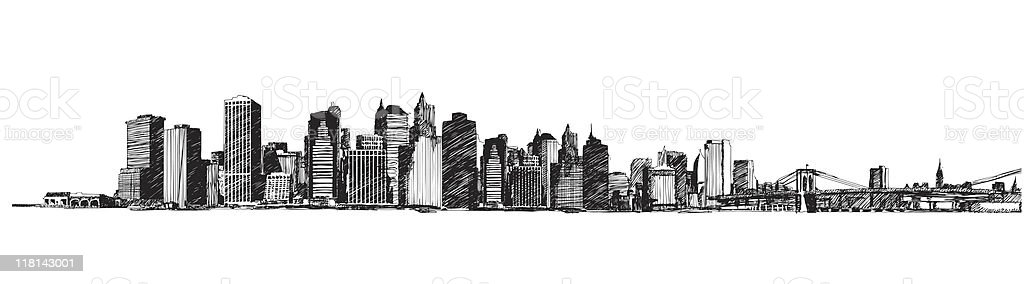 New York City Skyline (vector) royalty-free stock vector art