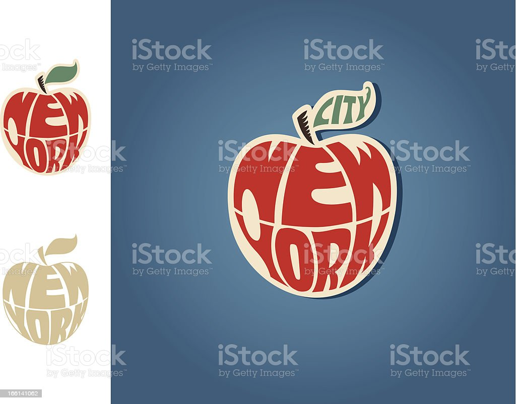 New York City sticker vector art illustration