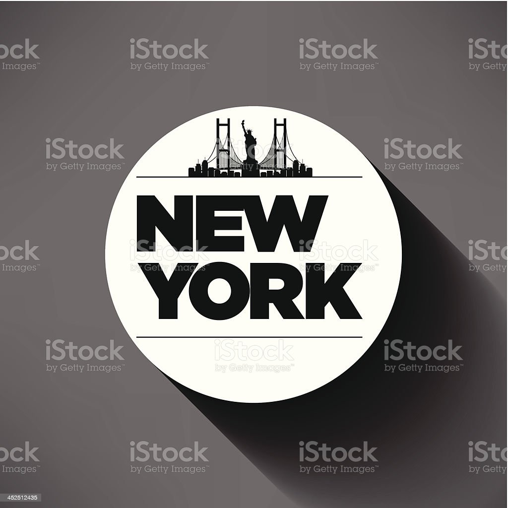New York City Typography Design royalty-free stock vector art