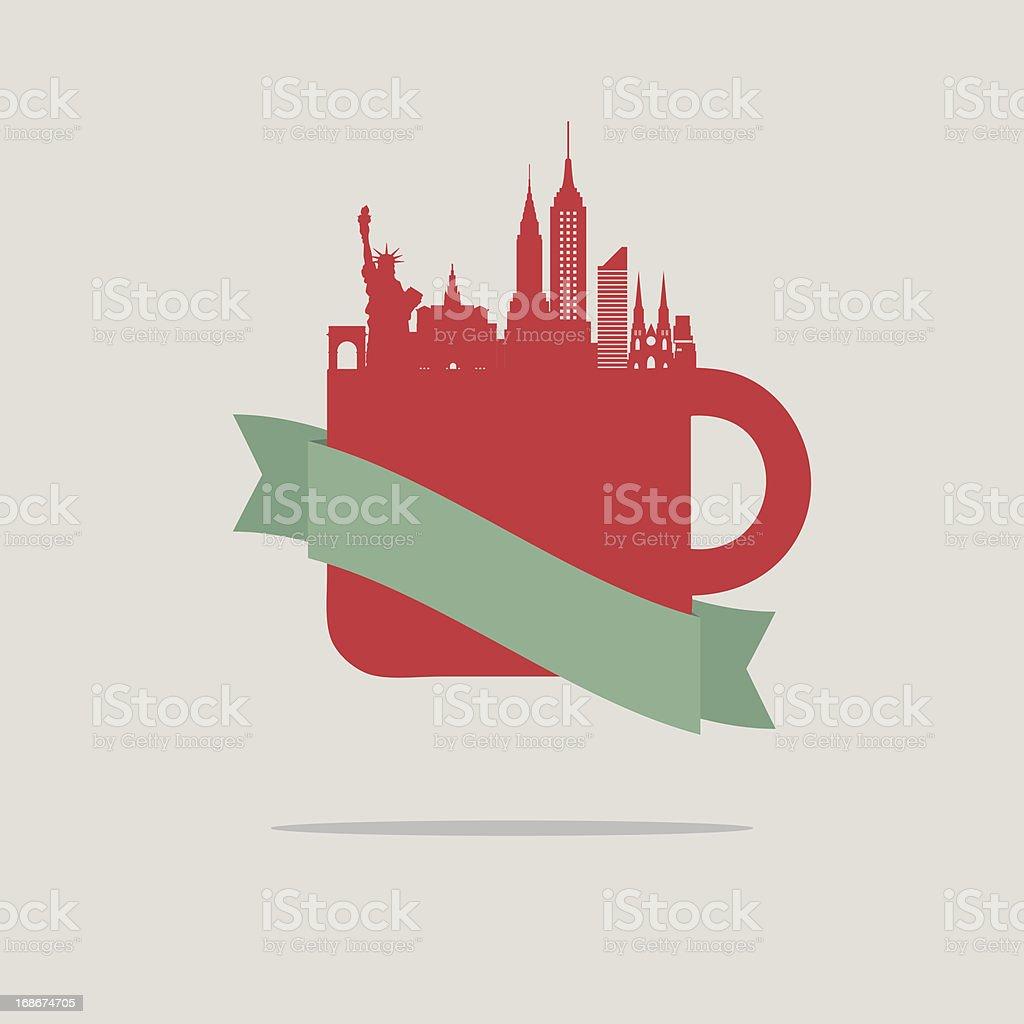 New York coffee royalty-free stock vector art