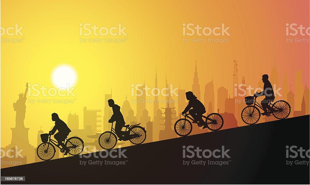 New York Cycling royalty-free stock vector art
