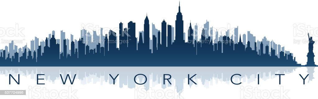 new york greeting card vector art illustration