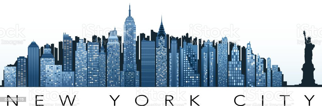 new york greeting vector art illustration