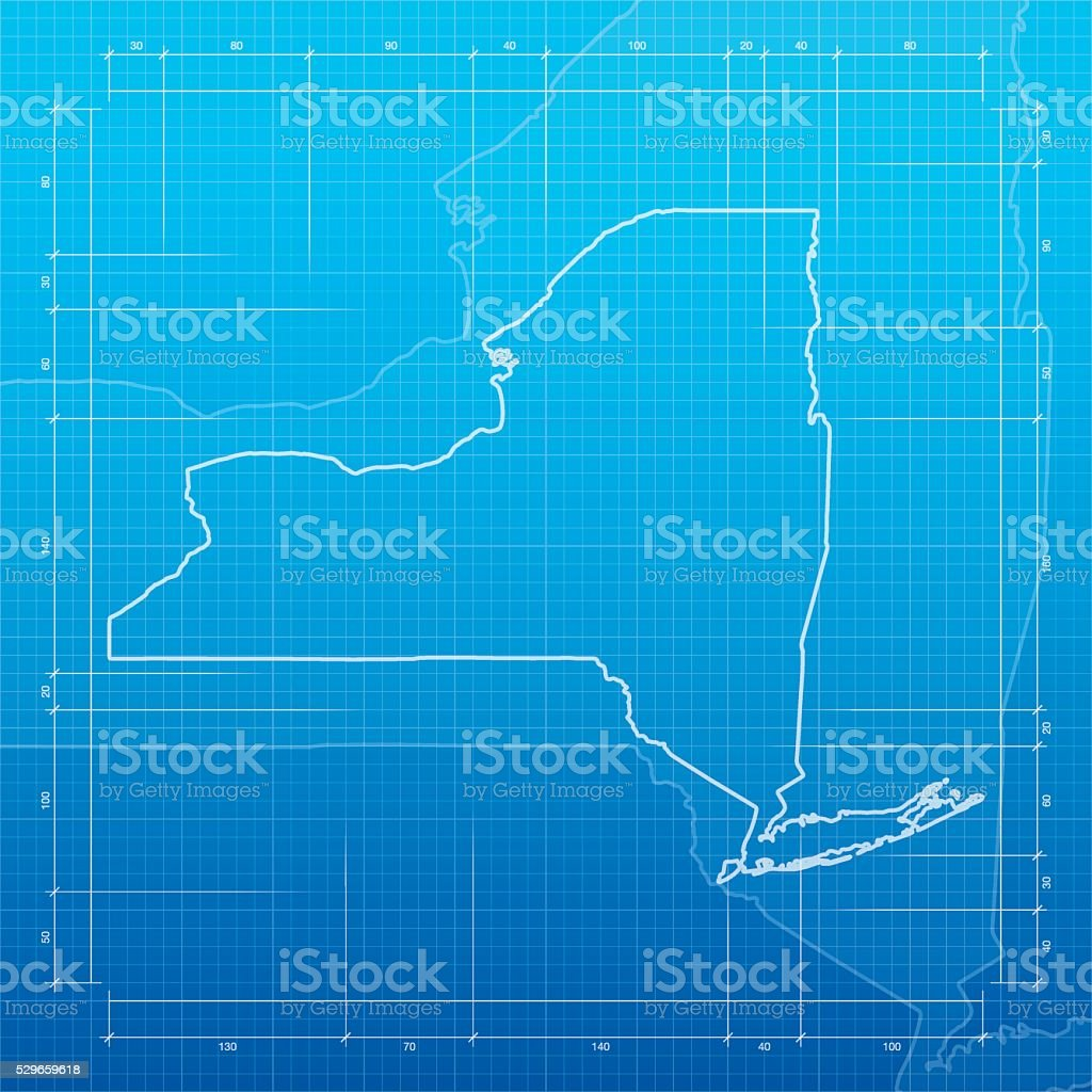 New york map on blueprint background stock vector art 529659618 new york map on blueprint background royalty free stock vector art malvernweather Image collections