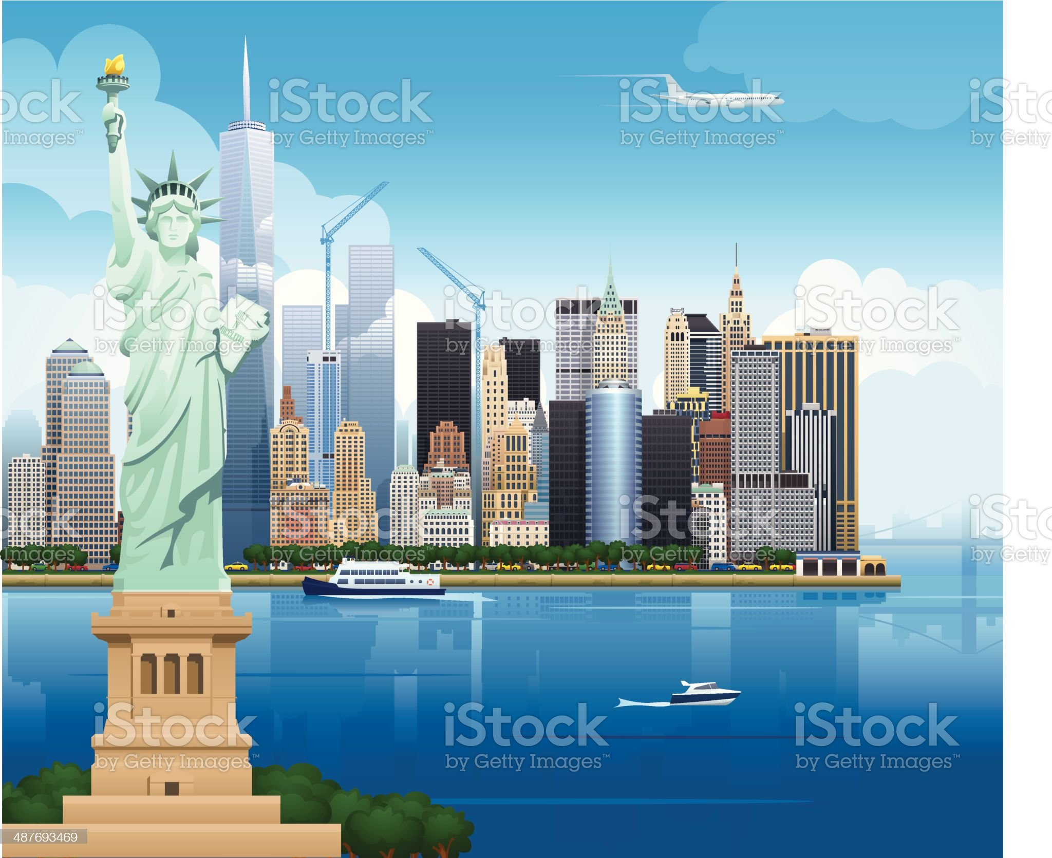 New York Skyline - Illustration royalty-free stock vector art