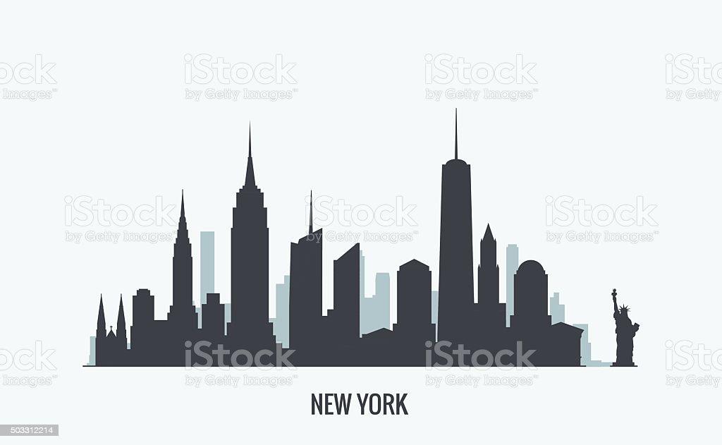 New York skyline silhouette vector art illustration