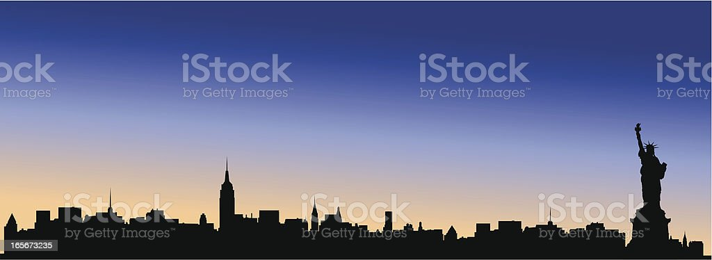New York Skyline royalty-free stock vector art