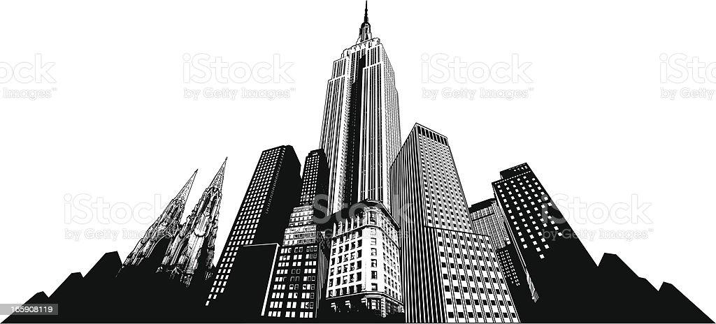 edificios de nueva york libre de derechos libre de derechos
