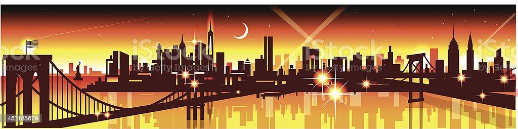 New York Skyline royalty-free stock vector art