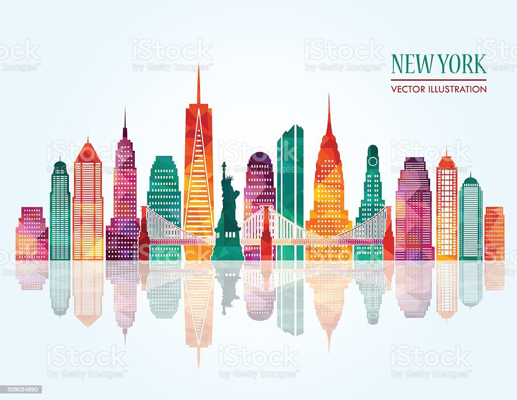 New York skyline. Vector illustration vector art illustration