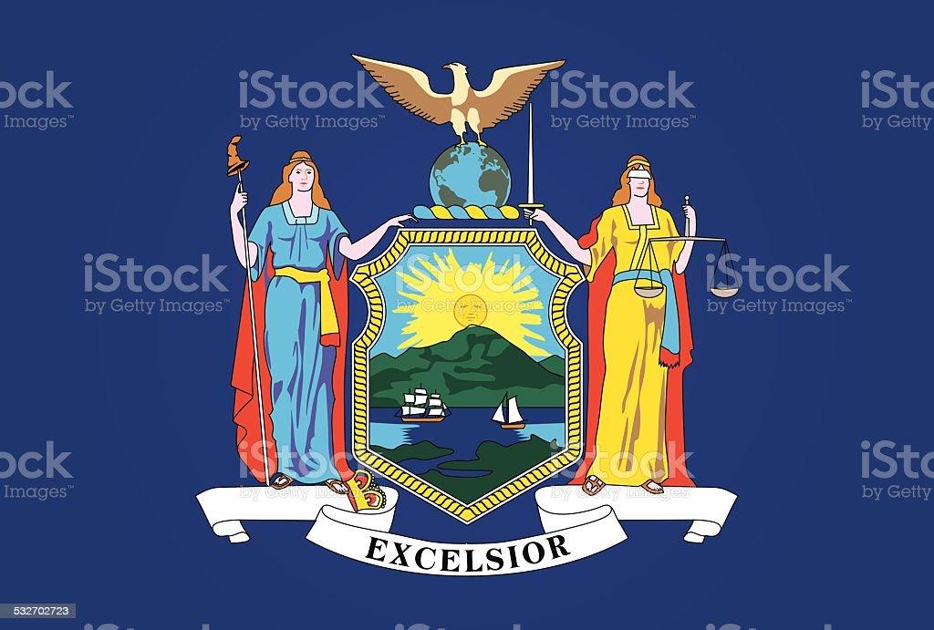 New York State Flag vector art illustration