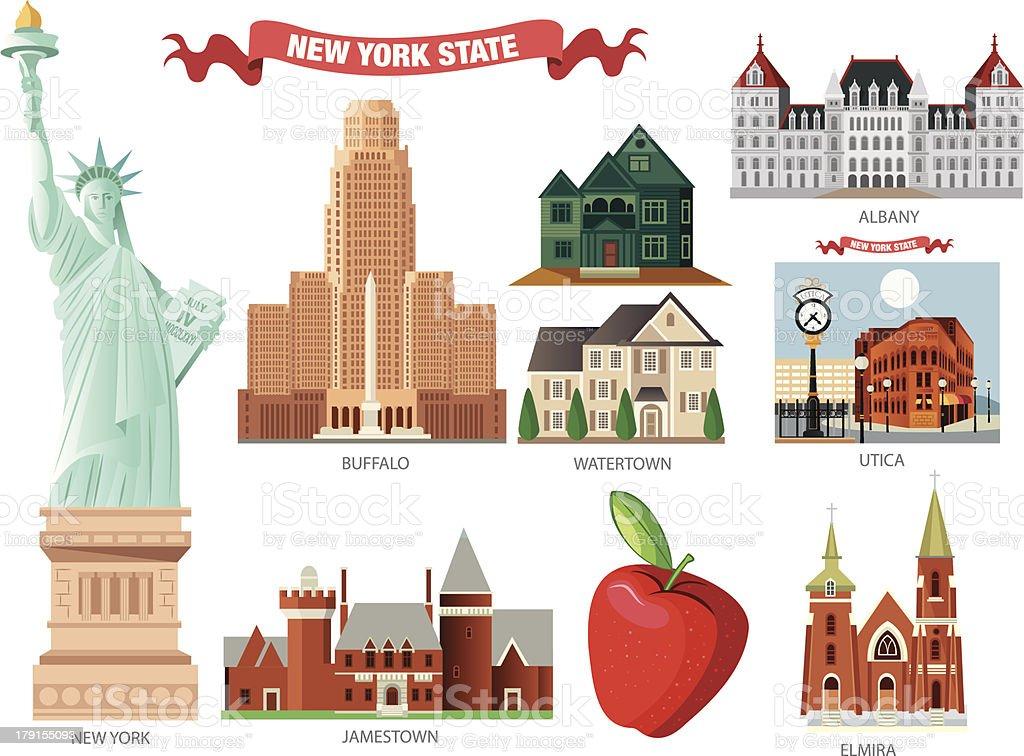 New york Symbols royalty-free stock vector art
