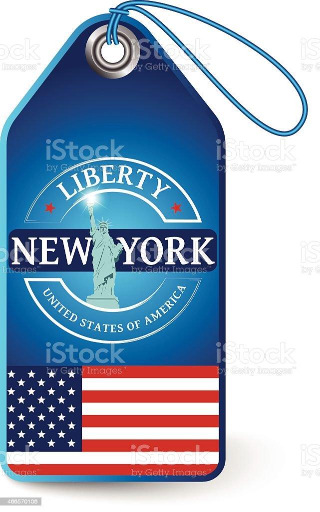 New york tag vector art illustration