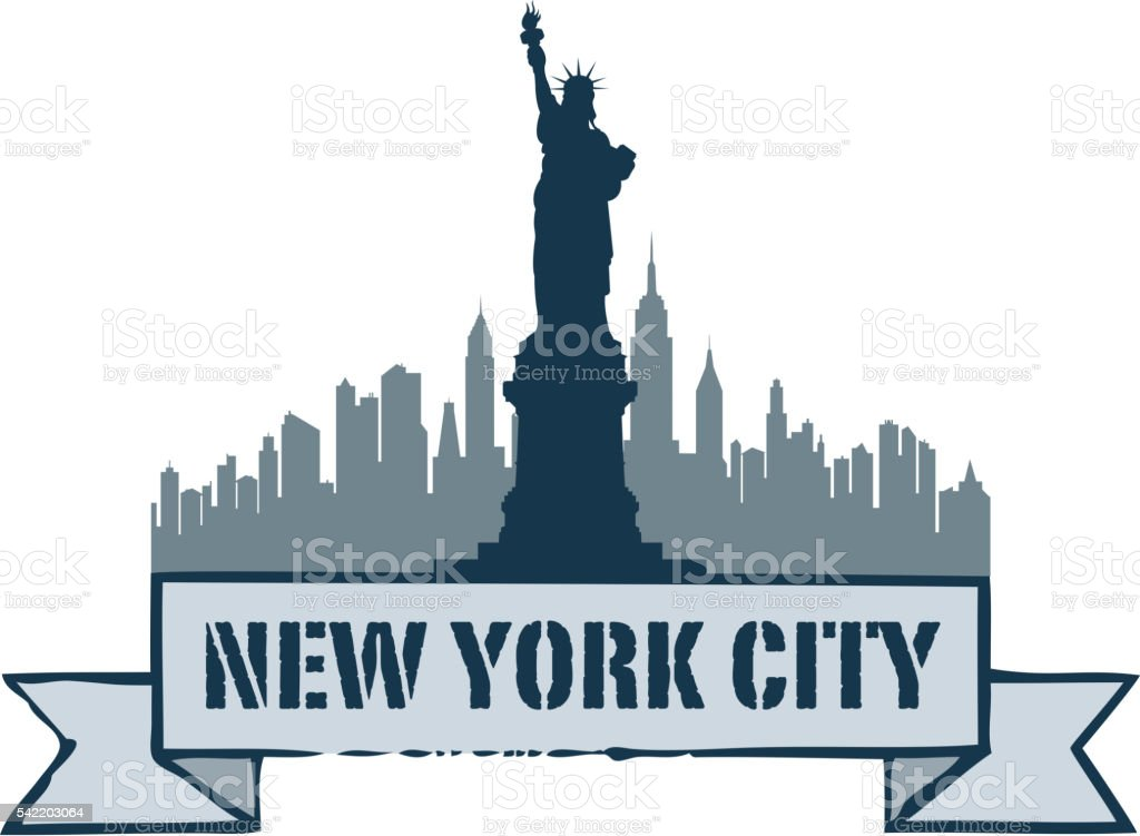 new york tag vector art illustration