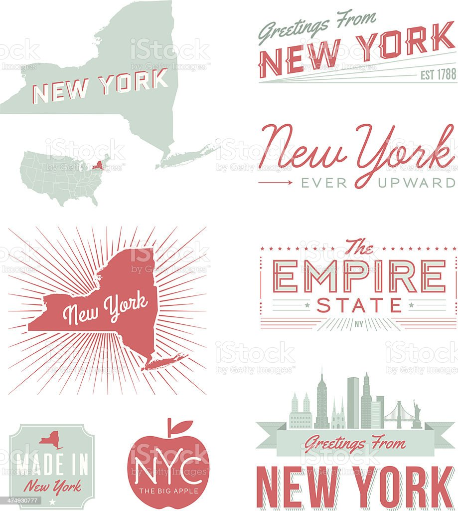 New York Typography vector art illustration