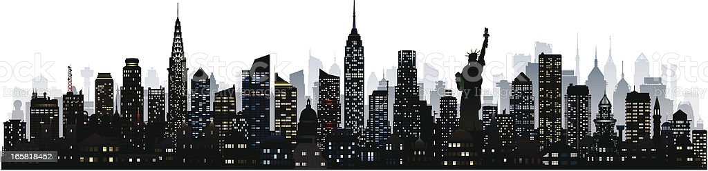 New York (124 Detailed, Moveable and Complete Buildings) vector art illustration