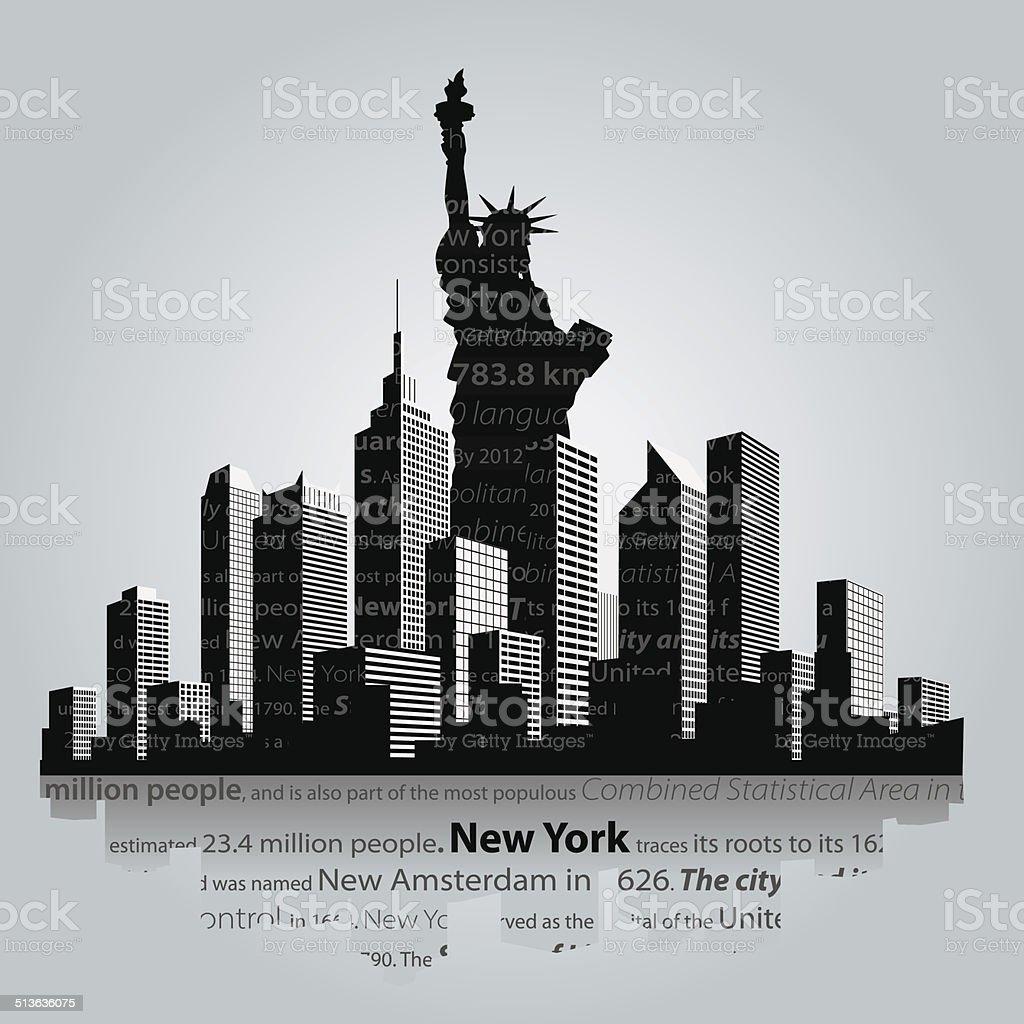 New York vector art illustration
