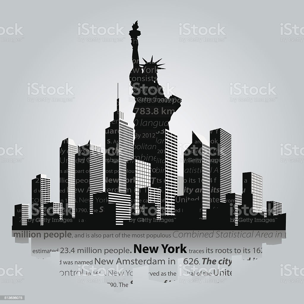 New York vector art illustration
