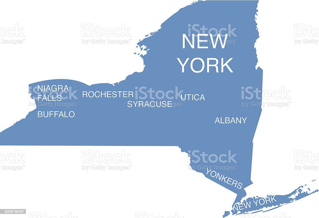 New York Vector with city Cutouts vector art illustration