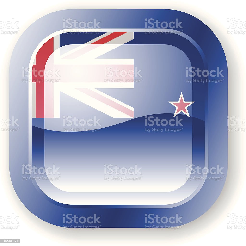 New Zealand Flag Icon royalty-free stock vector art