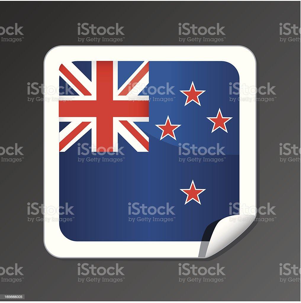 New Zealand flag icon royalty-free stock vector art