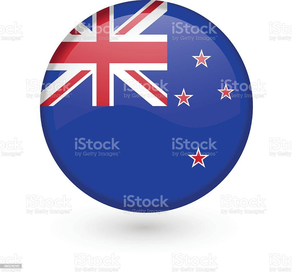 New Zealand flag vector button royalty-free stock vector art