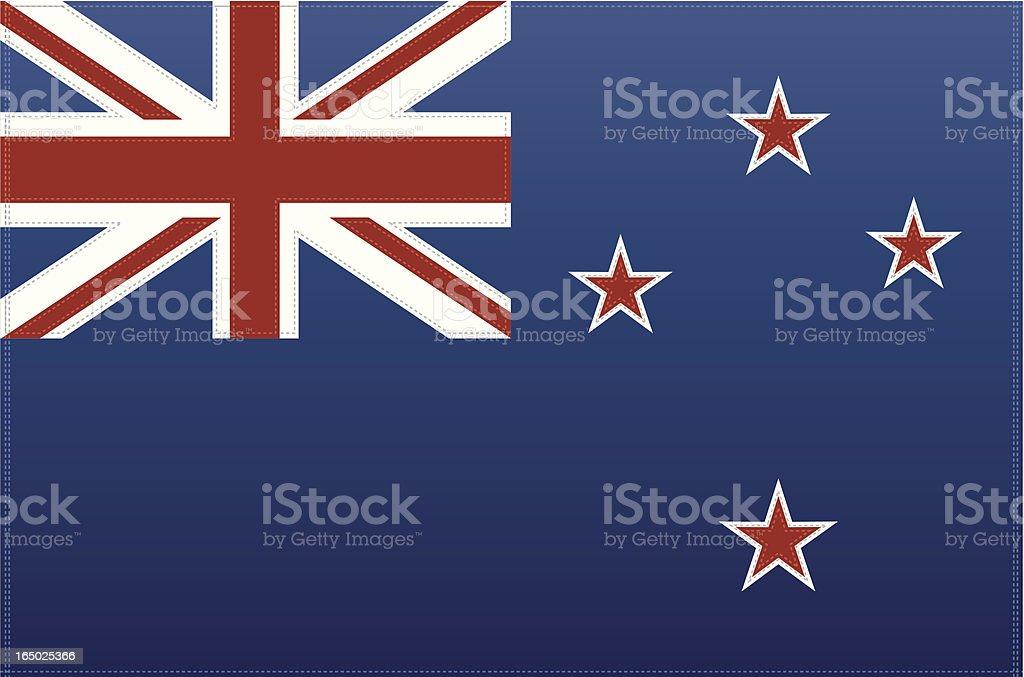 New Zealand Flag (Vector) royalty-free stock vector art