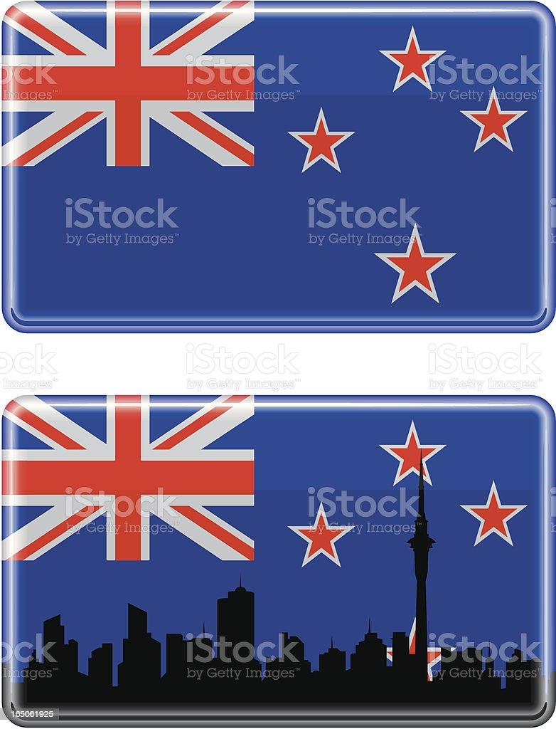 New Zealand Flag royalty-free stock vector art