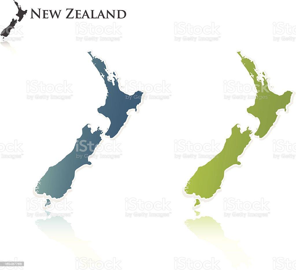 New Zealand Outline vector art illustration
