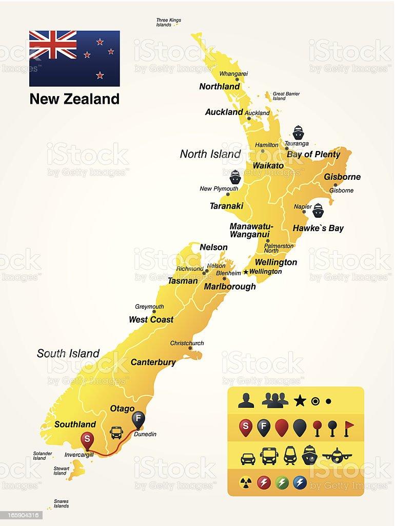 New Zealand royalty-free stock vector art