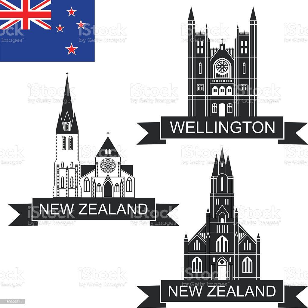 New Zealand vector art illustration