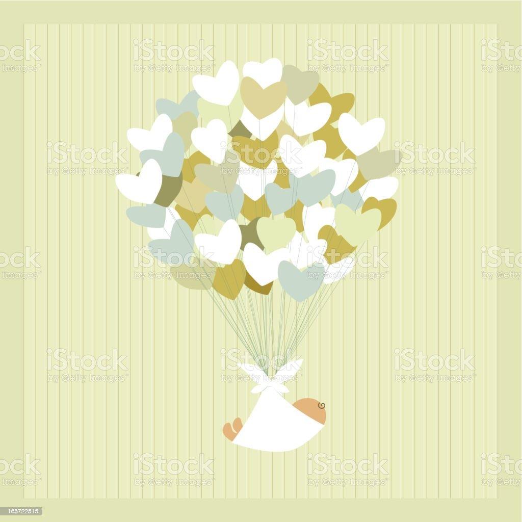 Newborn baby vector art illustration