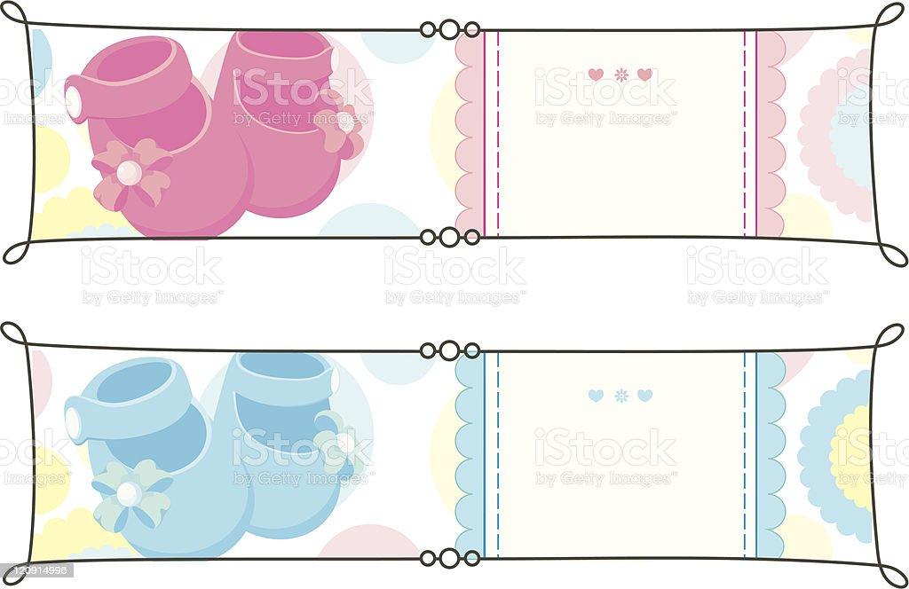 Newborn banners set royalty-free stock vector art