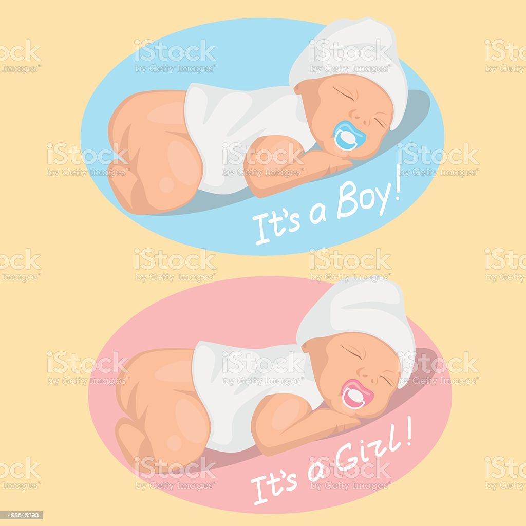 Newborn royalty-free stock vector art