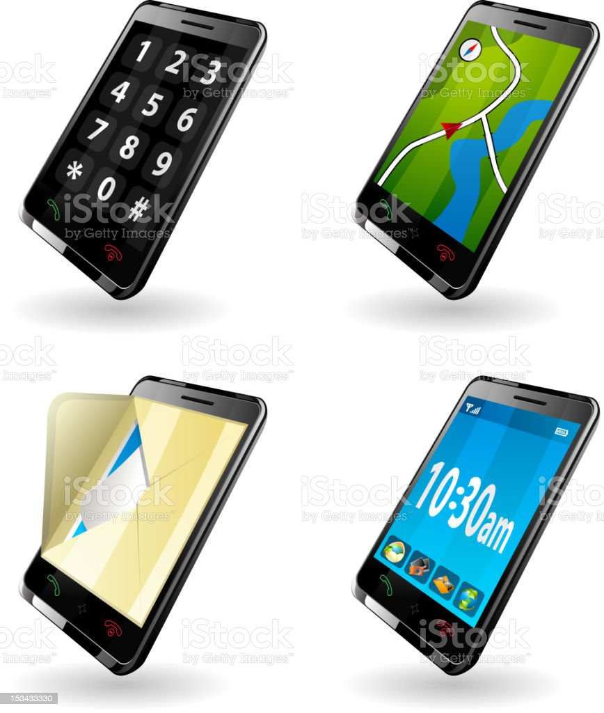 Newest Technology Mobile Phone royalty-free stock vector art