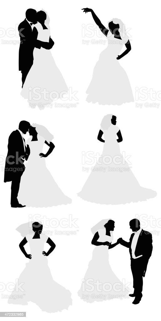 Newlywed couple royalty-free stock vector art