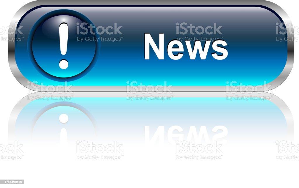 News Button royalty-free stock vector art