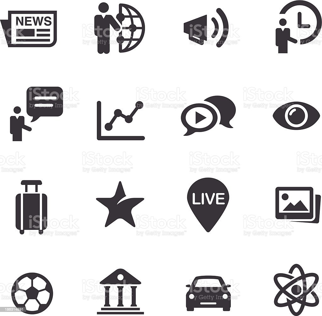 News Category Icons - Acme Series royalty-free stock vector art