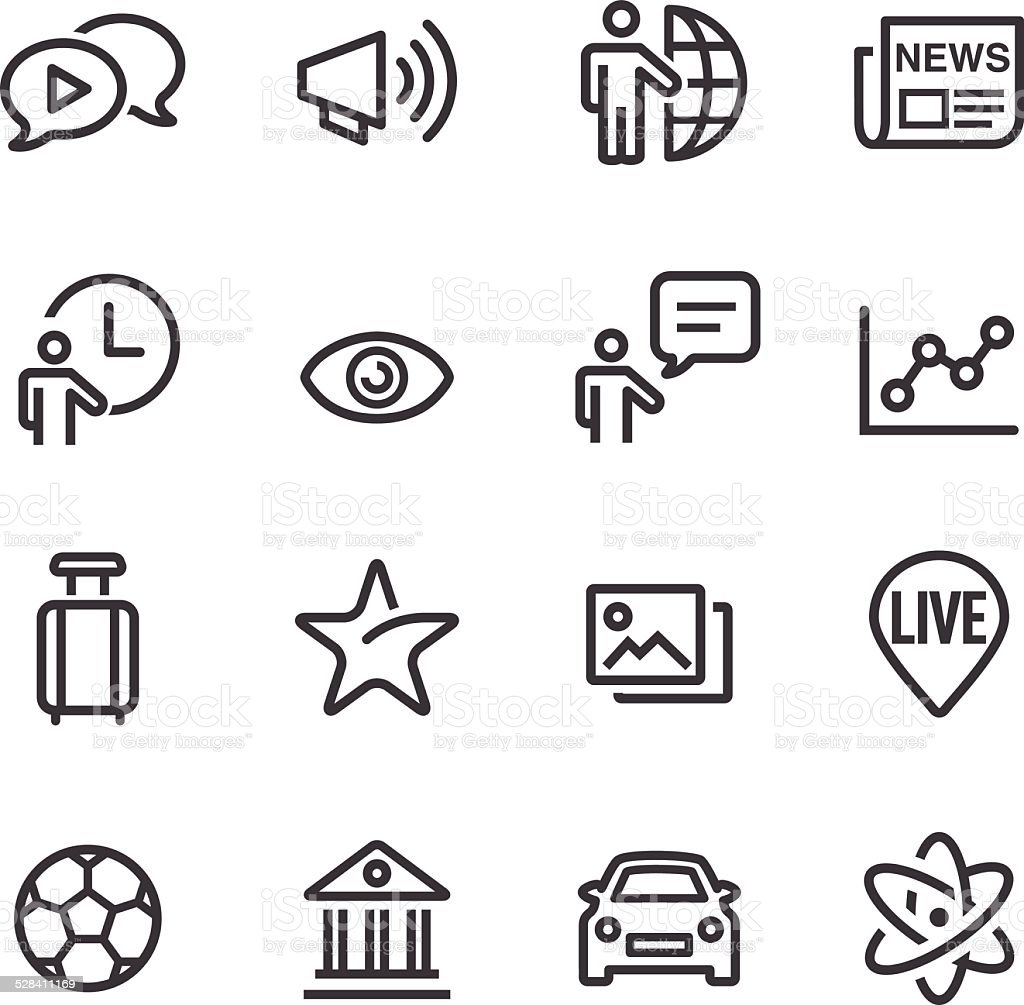 News Category Icons - Line Series vector art illustration
