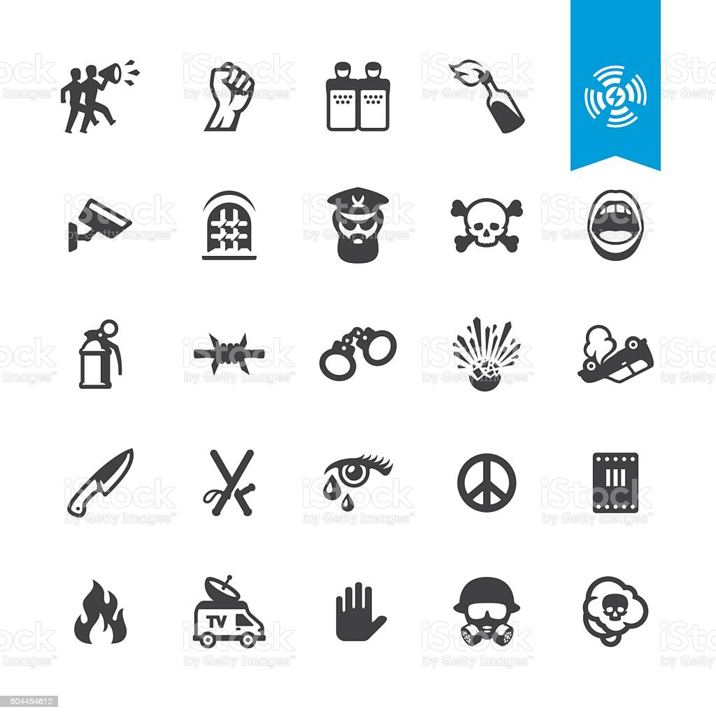 News Event related vector icons vector art illustration